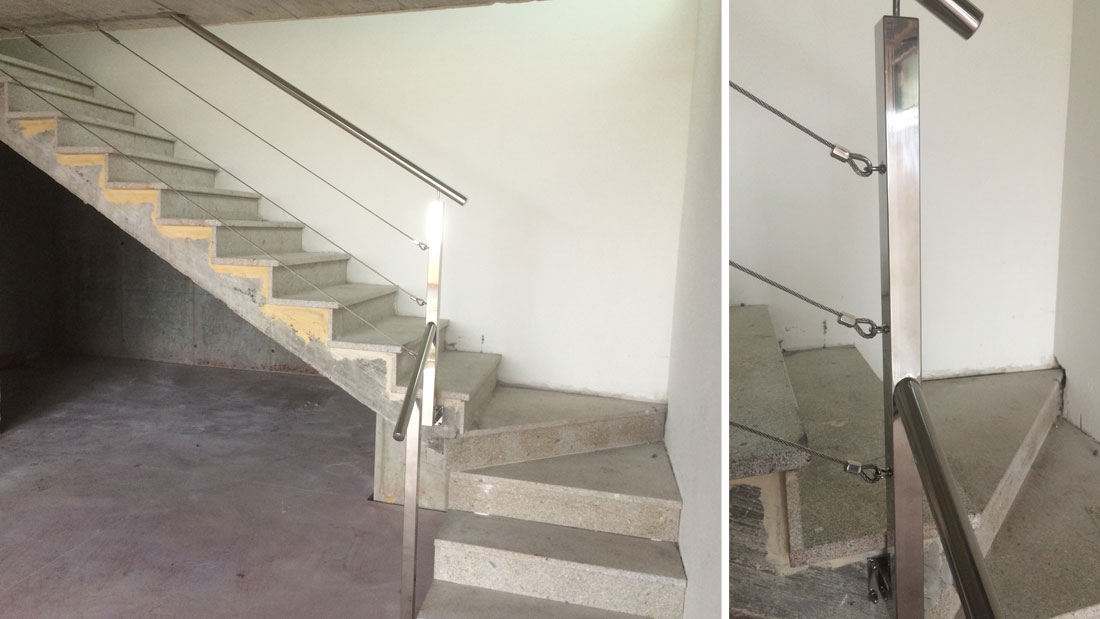 Barandas de escaleras interiores pasamanos de escaleras - Barandillas escaleras modernas ...